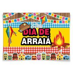 Painel Horizontal Dia de Arraiá Festa Junina - 106x75cm - Magazine 25