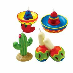 Amazon.com - Fiesta Party Candles - Childrens Party Decorations