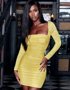 u neck mesh patchwork pleated slim bodycon dress – Jenny Ray Source by JennyRay_Official Dresses Neon Dresses, Club Dresses, Short Dresses, Summer Dresses, Women's Dresses, Night Dress For Women, Party Dresses For Women, Tube Dress, Mesh Dress