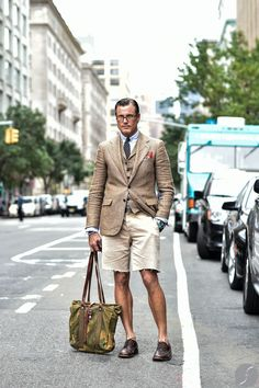 John Wrazeh before Ralph Lauren Collection at New York Fashion Week S/S 2015