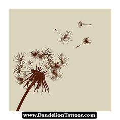 Dandelion Tattoos Ideas 04 - http://dandeliontattoos.com/dandelion-tattoos-ideas-04/