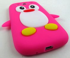 Pink penguin phone case