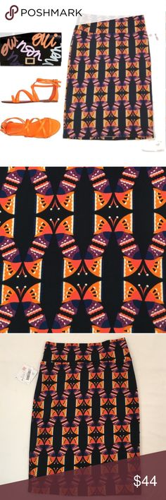 🆕 LULAROE abstract mirrored butterfly Cassie New, unworn condition; tags attached. Our Cassie skirt takes the fancy up a notch from the Maxi skirt without sacrificing comfort. Our pencil skirt's waistband flatters all body types and enables the wearer to adjust the length as needed. You can still dance like no one is watching and know that everything you want covered will stay covered. And you will look hot, too. We live in this skirt all year long. LuLaRoe Skirts Skirt Sets