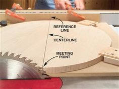 How to cut circles out of wood using a table saw