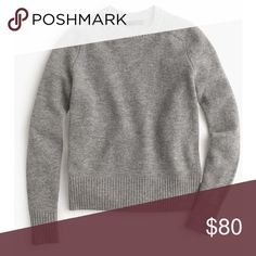 NWT J. Crew Holly Sweater - Gray Incredibly soft lambswool sweater! Received as a gift but it's a bit too small for me and I didn't return in time. It's a seriously gorgeous, classic gray sweater. Comfortable with flattering seams at shoulders. NWT; never worn! Comes in black J. Crew gift box. Pictures of actual item coming soon! 🙃 J. Crew Sweaters Crew & Scoop Necks