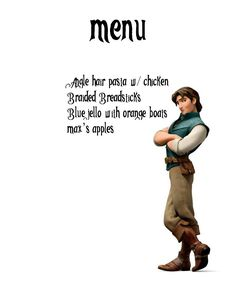 Disney Mother: Disney Movie night Menu's