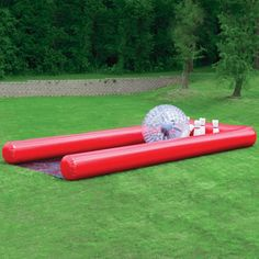 When I'm rich and have a giant backyard I will own one of these: Child-sized hamster ball with matching bowling alley.