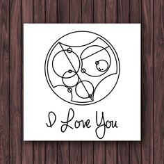 I Love You in Gallifreyan Doctor Who Valentines Card by BeckiBoos