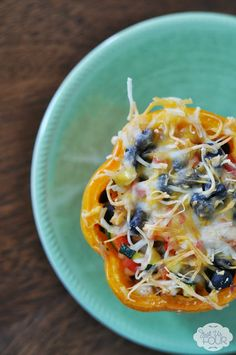 Chicken Enchilada Stuffed Peppers // how gorgeous is this? #appetizer #gameday