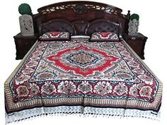boho style Bedspreads mandala Bedcover 2 Pillow Coverser with 2 Pillow Covers Tapestry Bedding, Boho Bedding, Cotton Bedding, Bohemian Bedspread, Gypsy Home Decor, Bohemian Decor, Bed Covers, Pillow Covers, Bohemian Decorating