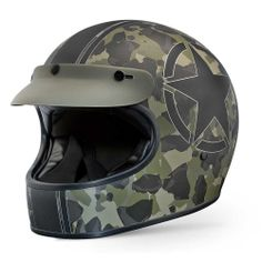 PREMIER Trophy Helmet - Camo Star | The Cafe Racer