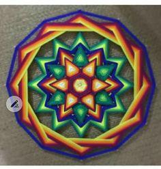 Gods Eye, Mandala Art, Stone Art, Chakras, Art Forms, Fiber Art, Dream Catcher, Weaving, Swim