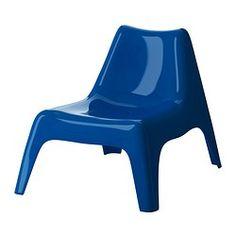 IKEA PS VÅGÖ Sessel, blau Breite: 74 cm Tiefe: 92 cm Höhe: 71 cm
