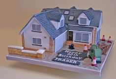 Birthday Cake (131) - House by Scrumptious Cakes (Paula-Jane), via Flickr