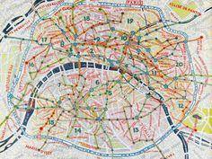 Paula Scher: Map of Paris - Created on Tactilize