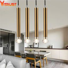 Modern Pendant Lights Lamps Hanglamp Creative Luminaire Hanging Lamp Copper Black White Dinning Room Bar Living Room abajurLight #Affiliate