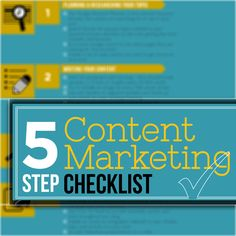 Content Marketing Checklist: 5 Steps To Successful Content