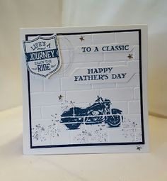 Stamping at The Warren: One Wild Ride Meets a Brick Wall Fathers Day Card using…