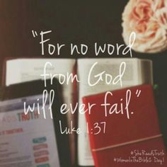 """"""" For with God nothing shall be impossible."""