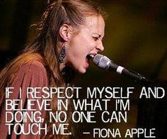 my queen- Fiona Apple <3