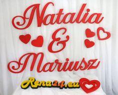 Imiona na ściankę Natalia&Mariusz