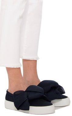 2b4f9b7c3ee1 Oversized Bow Slip On Sneakers by JOSHUA SANDERS Now Available on Moda  Operandi Joshua Sanders
