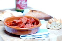 Chorizos a la sidra con Thermomix | Velocidad Cuchara ✿Teresa Restegui http://www.pinterest.com/teretegui/✿