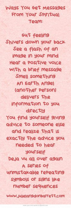 I would have called this - ways to know someone from the spirit world may be trying to contact you…..