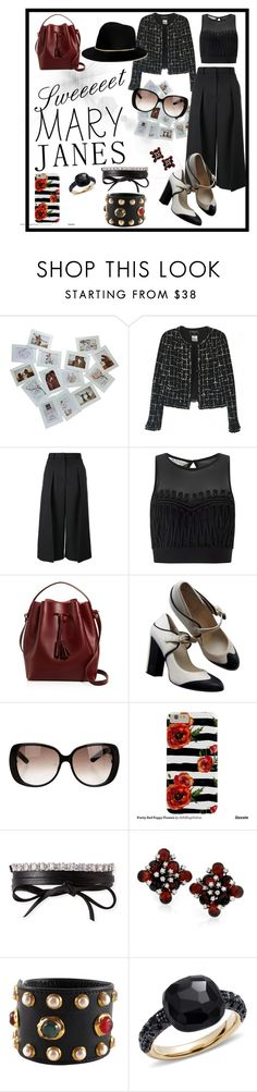"""Sweet Marry Janes"" by thiannaxtheresa ❤ liked on Polyvore featuring Chanel, Erdem, Miss Selfridge, Céline Lefébure, Gucci, Fallon, Pomellato and Janessa Leone"