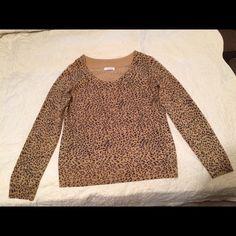 cheetah print sweater Beautiful Calvin Klein cheetah print sweater, L, gently loved with no stains or picks. Calvin Klein Sweaters Crew & Scoop Necks