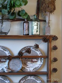 pine cone garland......very rustic.