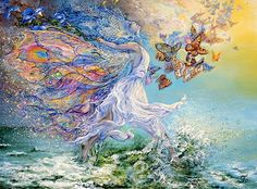 "Wind Witch:  #Wind #Witch ~ ""Joie De Vivre,"" by Josephine Wall."