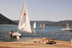 Sailing on Vico lake
