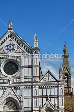Florence, detail of the church of Santa Croce