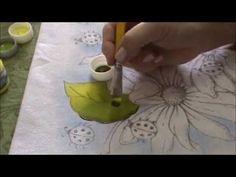 Pintura em Tecido para Iniciantes Flores e Folhas Parte I.wmv,MAIS MANEIRAS ,DE APREDER A PINTAR,AMEI