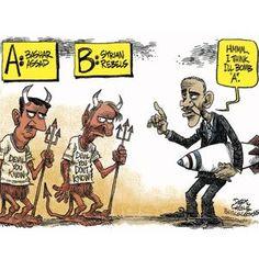 Le dessin du jour : Syrie, le dilemme d'Obama - Par Cagle