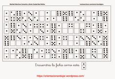 Psicopedagogia Salvador: Fichas com imagens de dominó para trabalhar atençã...