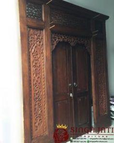 pintu gebyok Jawa klasik ukiran model minimalis modern Armoire, Modern, Furniture, Home Decor, Clothes Stand, Trendy Tree, Decoration Home, Closet, Room Decor