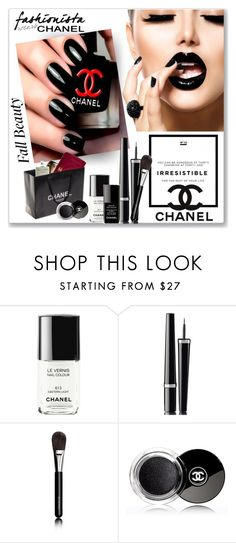 """""""Chanel Black #2248"""" by gaburrus ❤ liked on Polyvore featuring beauty, Chanel, BeautyTrend and blacklips"""