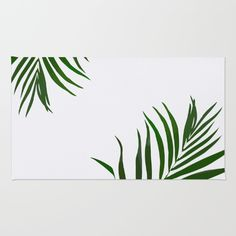 Fern rug Tropical botanical print, home decor, green leaves, plants, leaf pattern, floor mat, welcome mat, entryway.