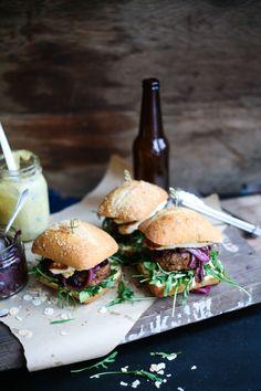harissa lamb halloumi burger #WOWfoodanddrink