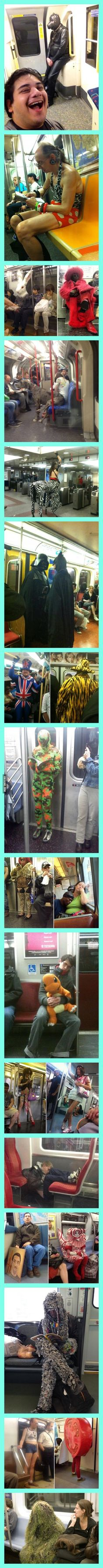 Crazy Stuff Spotted On The Subway