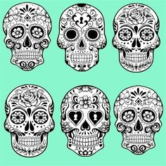 Sugar skulls -- For a punk-neon Halloween, perhaps?