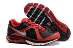 Black/University Red/White/Metallic Silver Nike Air Max Excellerate Mens