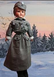 Finnish Martha doll in Lotta-dress - marttanukke Lottapuvussa