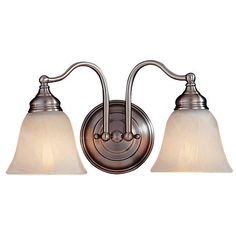 "Feiss Bristol Collection 15"" Wide Pewter Bath Light - #G8414 | LampsPlus.com"
