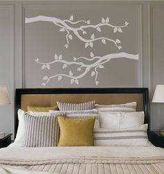 Branches for basement wall. Like the idea of black, with some white accent somehow...