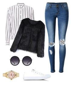 """""""Everyday outfit"""" by carlalnrd on Polyvore featuring mode, Equipment, WithChic, Converse, Rolex, Chicwish et Alice + Olivia"""