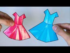 Cómo hacer un Vestido de Papel - Origami - YouTube