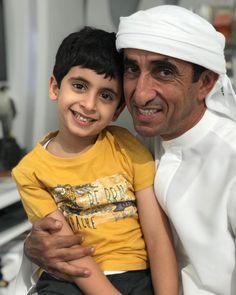 Hamdan bin Saeed bin Maktoum Al Maktoum y su padre, Saeed bin Maktoum bin Juma Al Maktoum, 2017